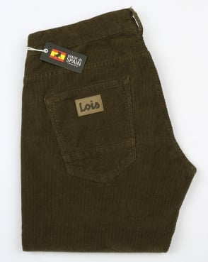Lois Sierra Needle Cords Olive Green
