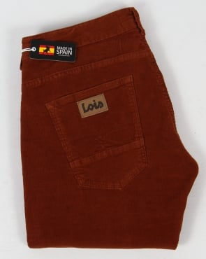 Lois Sierra Needle Cords Rust Brown
