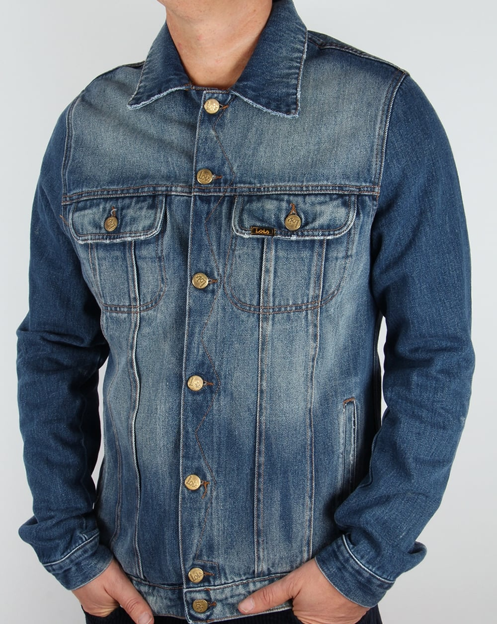 Lois Tejana Denim Jacket Stone Wash,coat,jean,blue,mens - photo#16