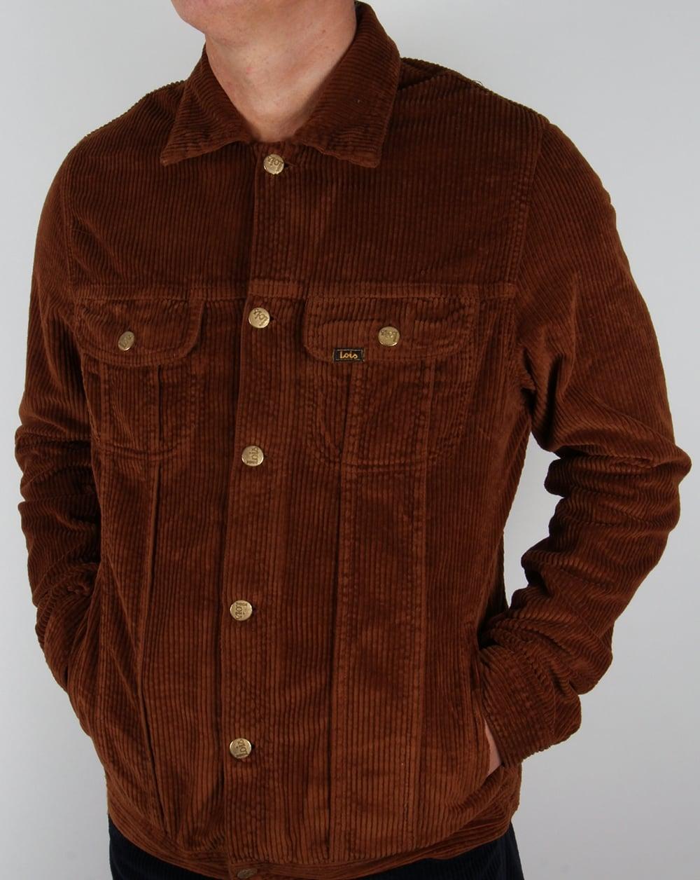 Lois Tejana Jumbo Cord Jacket Brown Coat Corduroy Mens