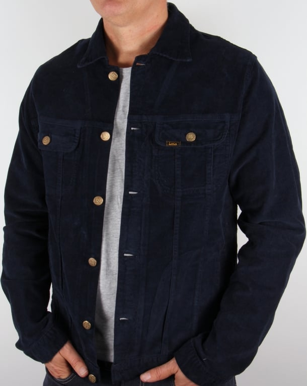 Cord jacket navy