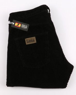 Lois Terrace Regular Taper Fit Jumbo Cords - Black