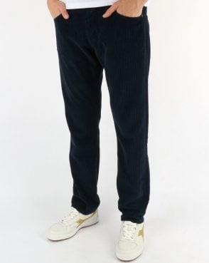 Lois Terrace Regular Taper Fit Jumbo Cords Navy