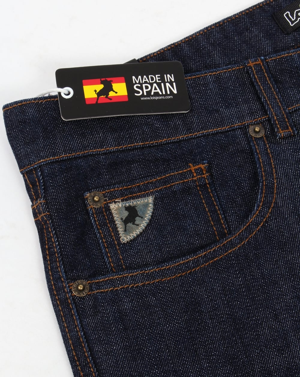 logo pesadilla No lo hagas  Lois Terrace Regular Taper Jeans Dark Wash | 80s casual classics