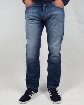 Lois Terrace Regular Taper Jeans Stone Wash