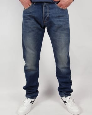 Lois Terrace Taper Fit Jeans Blue Wash