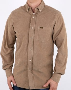 Lois Thomas Cord Shirt Dark Sand