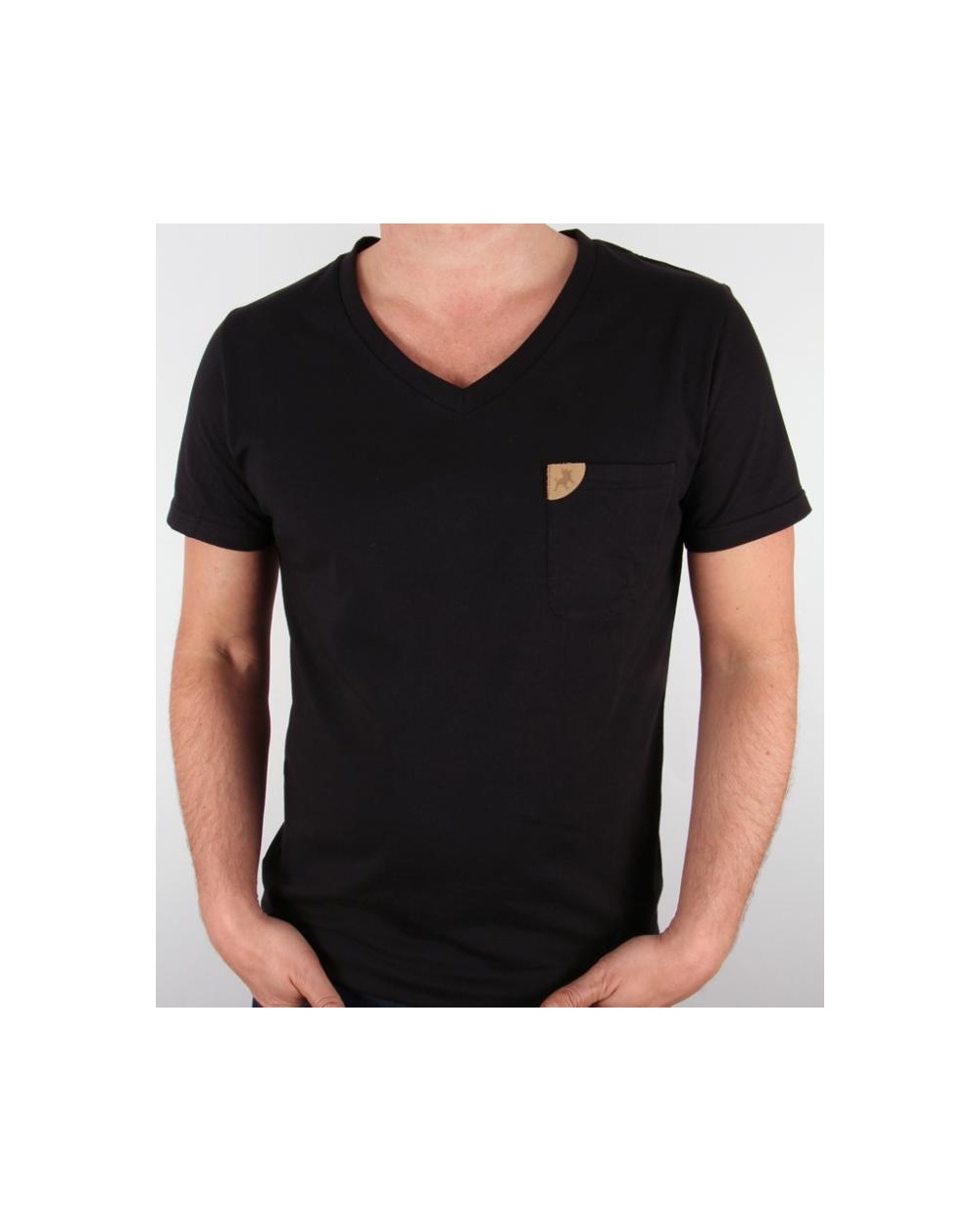 Lois v neck pocket t shirt black v neck tee lois V neck black t shirt
