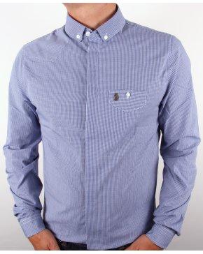 Luke Bailey Gingham Shirt Royal Blue