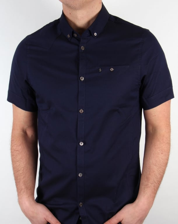 Luke Bridgenorth Short Sleeve Shirt Navy Blue