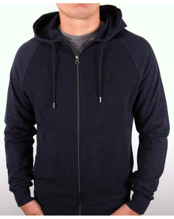 Luke Browser Fz Hoodie Dark Navy