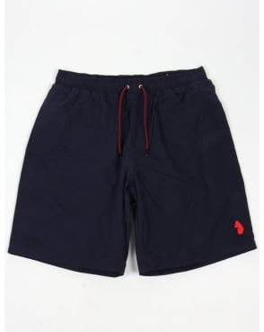 Luke Cagys Knee Length Swim Shorts Navy