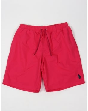 Luke Cagys Knee Length Swim Shorts Pop Pink