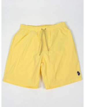 Luke Cagys Knee Length Swim Shorts Powder Yellow