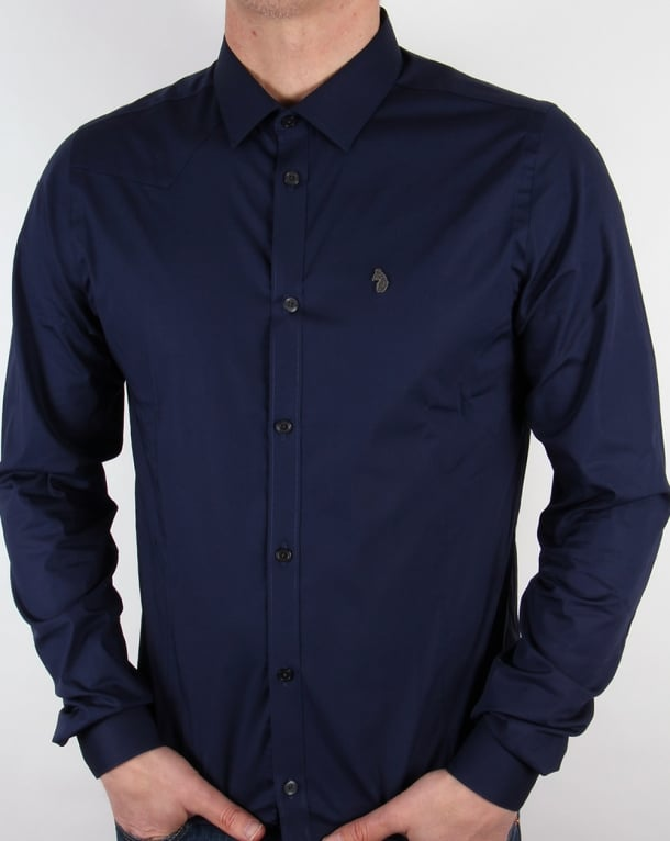 Luke Classic Fitted Shirt Midnight Navy