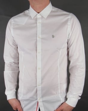 Luke Classic fitted Shirt White
