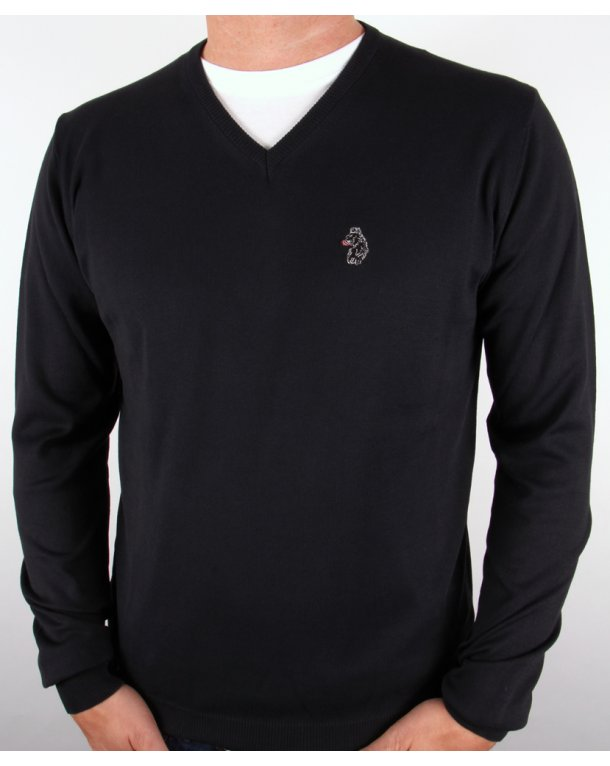Luke Depardieu V Neck Jumper Black