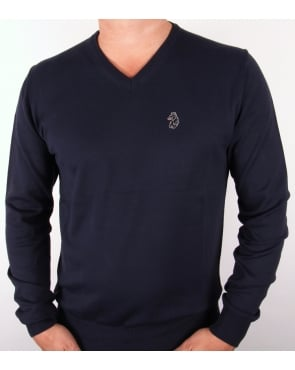 Luke Depardieu V Neck Jumper Dark Navy