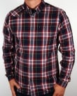 Luke Flannel check Shirt Navy