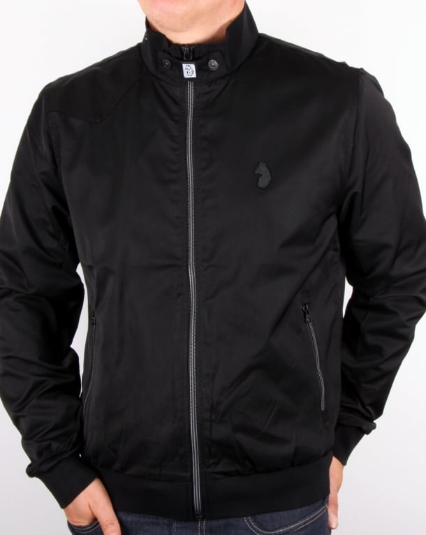 Luke Fluff Nut Funnel Neck Bomber Jacket Black