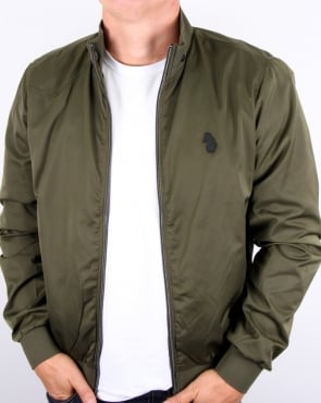 Luke Fluff Nut Funnel Neck Bomber Jacket Khaki