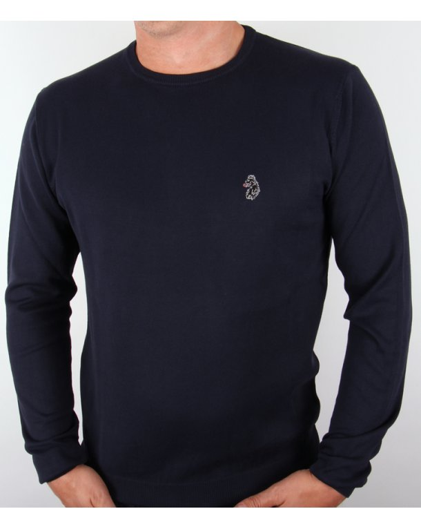 Luke Gerard Crew Neck Jumper Dark Navy