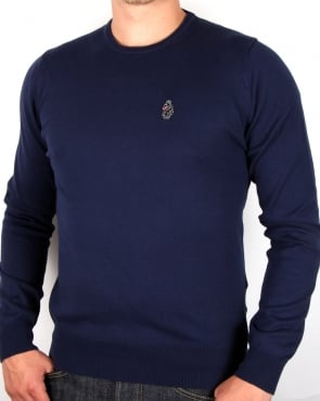 Luke Gerards Crew Neck Jumper Navy