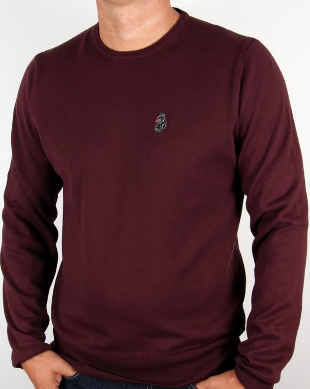 Luke Gerards Crew Neck Jumper Wine