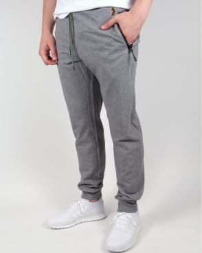 Luke Hiho Track Bottoms Light Grey Marl