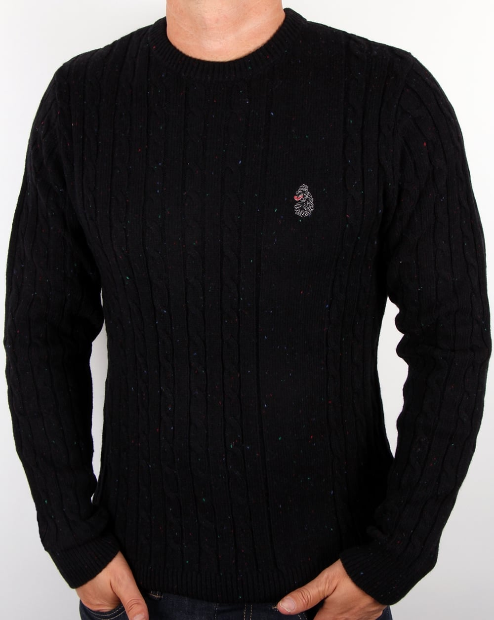 Luke Luke Horton Cable Knit Jumper Black 31217e3b090d