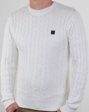 Luke Horton Cable Knit Jumper Cream