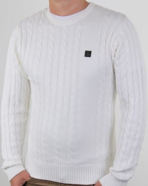 Luke Horton Cable Knit Jumper Cream