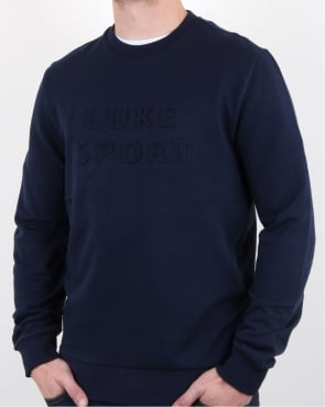 Luke Lewis Sport 3d Crew Neck Dark Navy