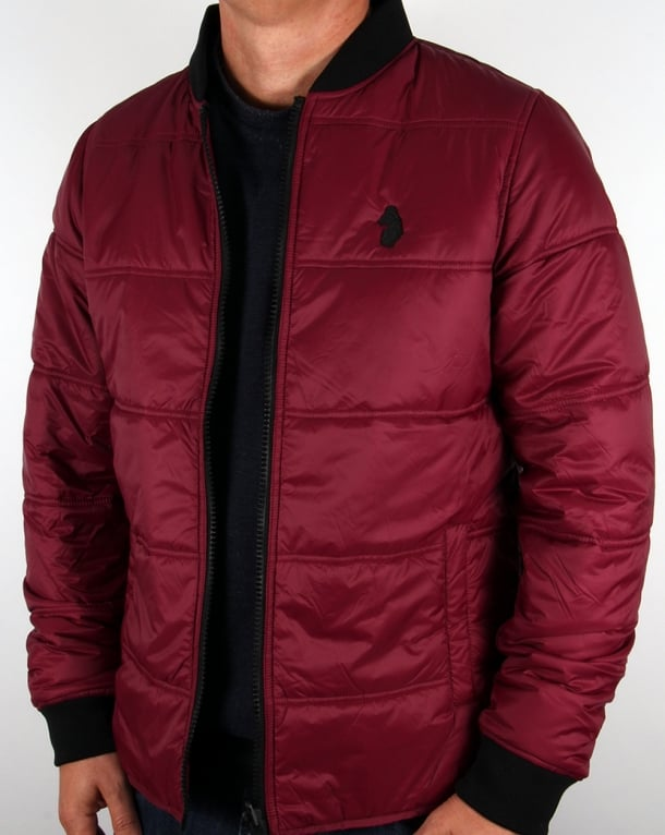 Luke Liner Quilted Jacket Berry