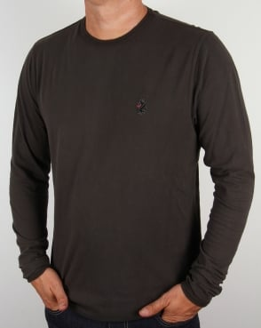Luke Long Sleeve T-shirt Charcoal