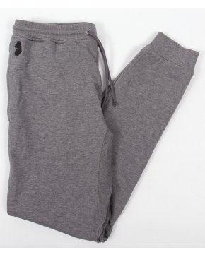 Luke Mario Tracksuit Bottoms Mid Marl Grey