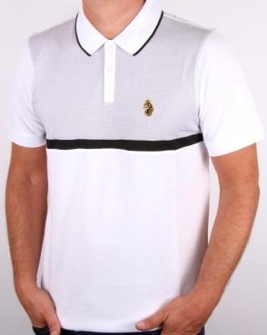 Luke Modern Classik Zip Polo Shirt White