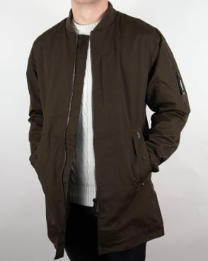 Luke Nation Long Length Jacket Deep Khaki