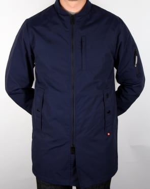 Luke Nation Long Length Jacket Navy