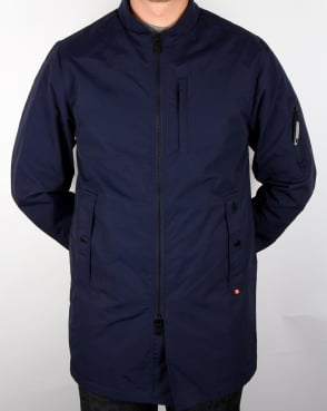 Luke Nation Long Length Jacket Navy