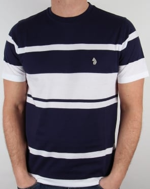 Luke Normandy Stripe T-shirt Marina Blue