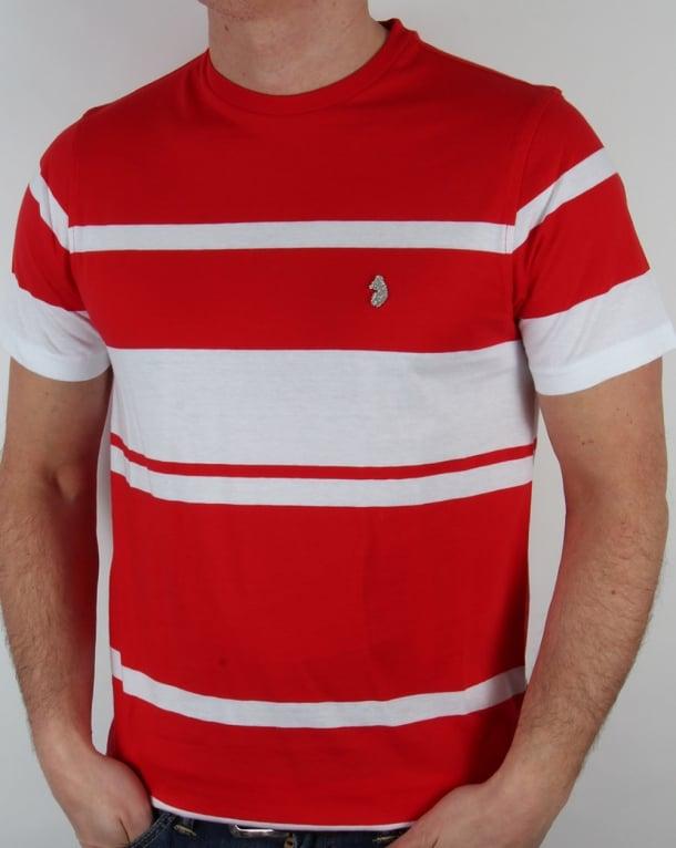 Luke Normandy Stripe T-shirt Marina Red
