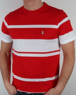 Luke Normandy Stripe T-shirt Marina Red