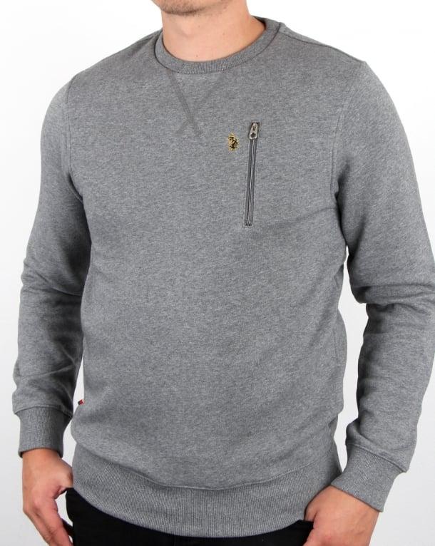 Luke One A Otm Sweatshirt Mid Grey Marl