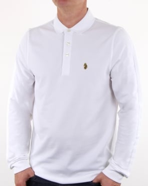 Luke Pinsent Long Sleeve Polo White