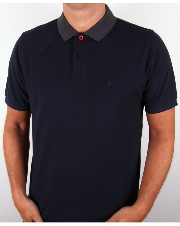 Luke plants polo shirt navy luke 1977 polo shirt mens for Luke donald polo shirts