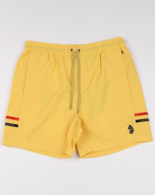 Luke Ragy Thigh Length Swim Shorts Lemon