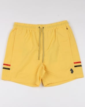 Luke Ragy Thigh Length Swim Shorts Lemon