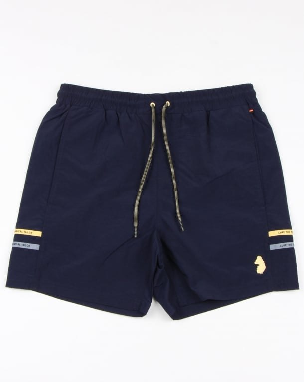 Luke Ragy Thigh Length Swim Shorts Navy