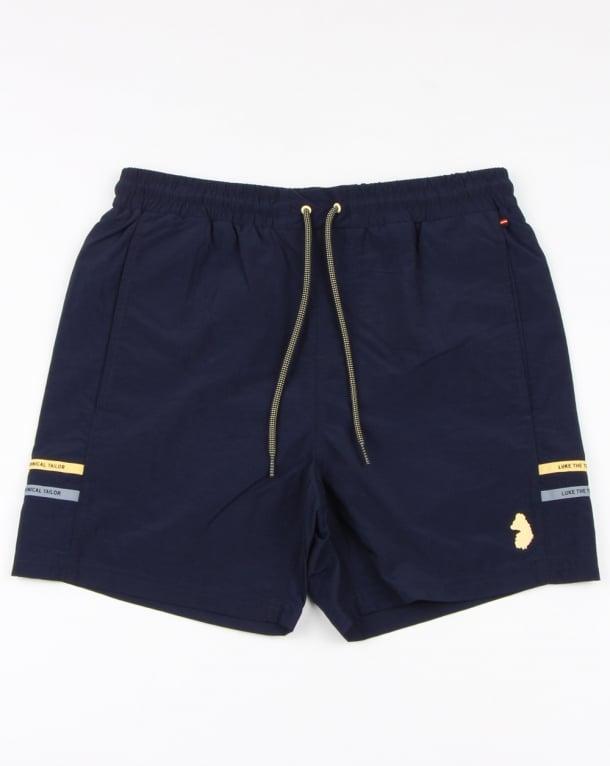 Luke Ragy Thigh Length Swim Shorts Navy